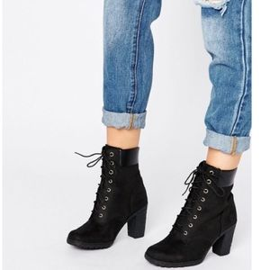Timberland Glancy Heeled Combat Ankle Boots